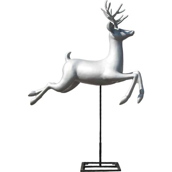 Flying Silver Reindeer