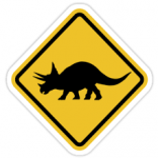 +PRE303 Dinosaur Sign Triceratops