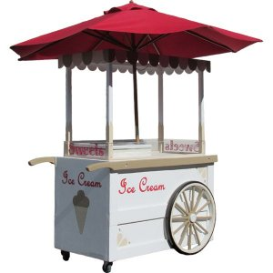 +CAT013 Ice Cream Cart with Parasol
