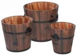 +GAR247 Set of 3 Wooden Buckets