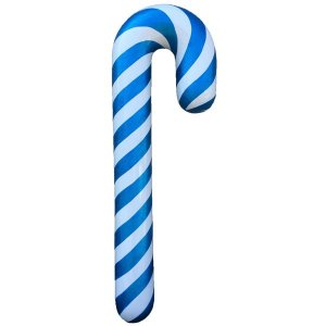 +CHR213 Blue Silver Candy Cane