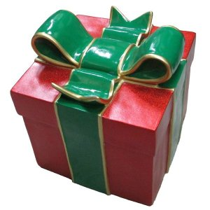 +CHR211D Giftbox Red with Green Bow