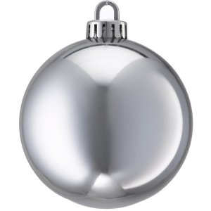 +CHR335XS.S Silver Bauble Shiney
