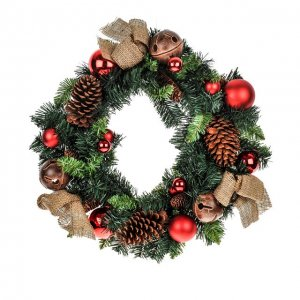 +CHR307 Bauble Wreath 60cm