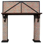 +LON207 Giant brick effect Fireplace