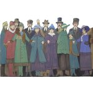 +CHR105 (Carol Singers) Victorian Crowd Scene Flat