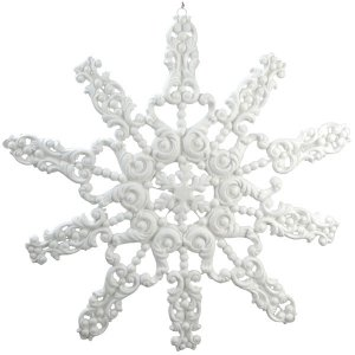 +CHR309B Flocked Snowflake 74cm