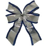 +CHR331 Giant Double Loop Silver-Blue