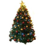 +CHR319B Xmas Tree with RED & GOLD Baubles