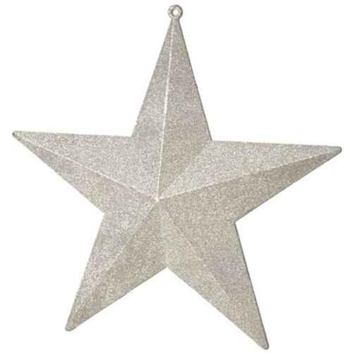 +CHR322 Star Glittered Silver