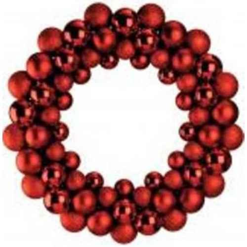 +CHR345R Red Bauble Wreath