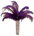 +TAB004A PURPLE FEATHERED TABLE CENTRE 008
