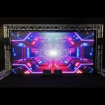 Video wall with outdoor stage