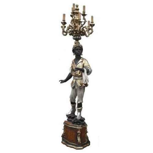 +ARA204L Arabian Statue cw Chandelier