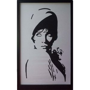 +B&W110 Flapper Girl