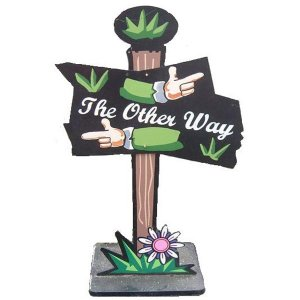+ALI257 The Other Way sign