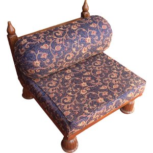 FUR231 Blue Paisley cushions on low chair