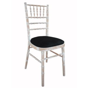 FUR215LW Lime Wash Chiavari Black Seat Pad