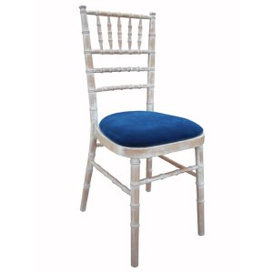 FUR215LWBL Lime wash Chiavari Blue Seat Pad