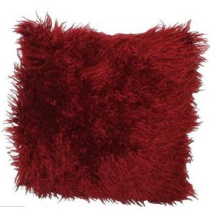 FUR657 Dark Red Cushion