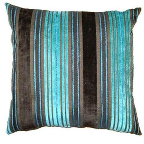 FUR656 Blue Turquoise stripe Cushion