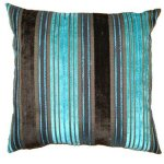 FUR656 Blue Turquoise stripe Cushion
