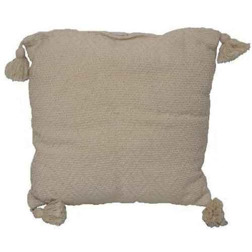 FUR650 Cushion Ivory Colour tassles