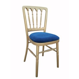 FUR210GBL Meecham Gold with Blue Seat Pad