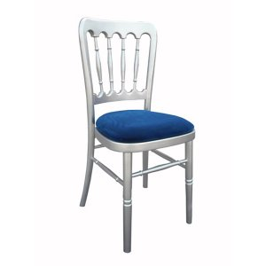 FUR211SBL Meecham Silver with Blue Seat Pad
