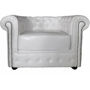 FUR240W single white chesterfield