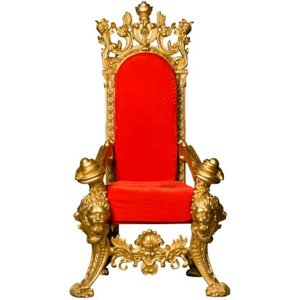 FUR614 Throne red and gold decor
