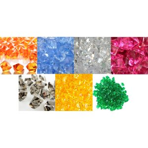 Acrylic stones in various colours