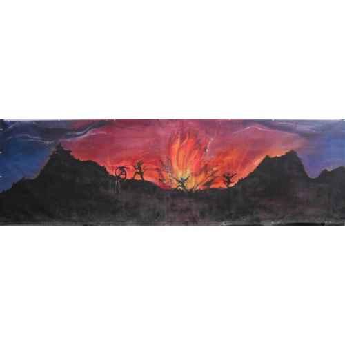 +HAL001A Backdrop 6mx2m Volcano & Devils