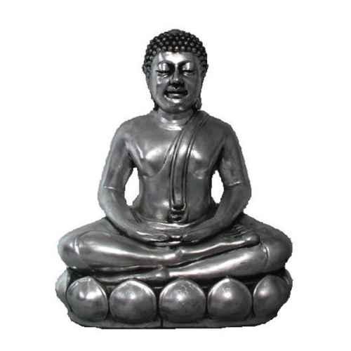 +IND225 Silver Sitting Buddha