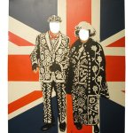 +LON111 Pearly King & Queen with cutouts for heads