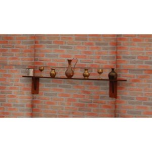 +LON214A & B Wooden Shelf with Bric a Brac