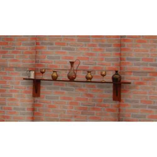 +LON214A & B Wooden Shelf with Bric a Brac