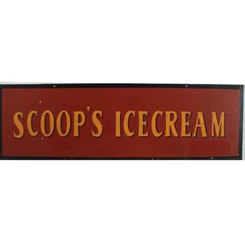 +LON313D Scoops Ice Cream Sign