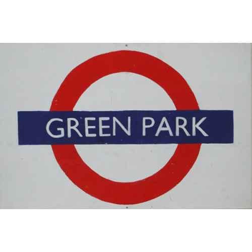 +LON304 Green Park Underground Sign