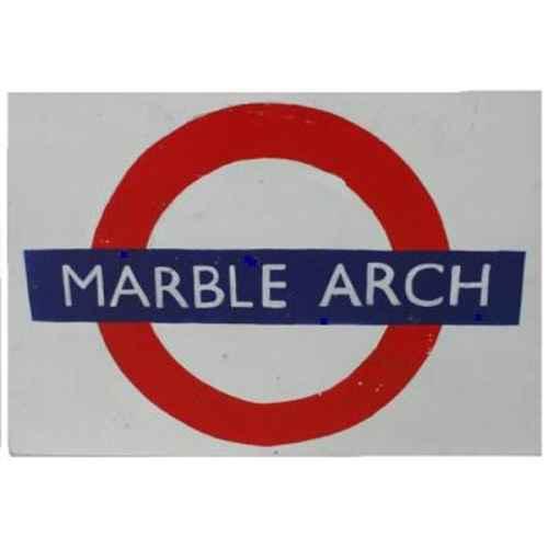 +LON304A Marble Arch Underground Sign