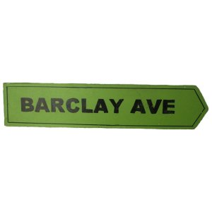 +NEW300A Barclay Avenue Sign