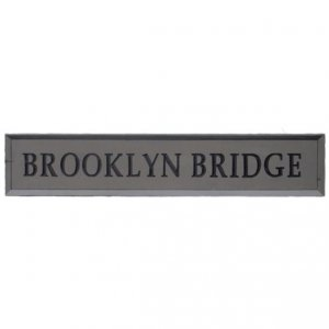 +NEW300S Brooklyn Bridge Sign