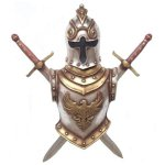 +MED245 German Armour with Sword wall Decor