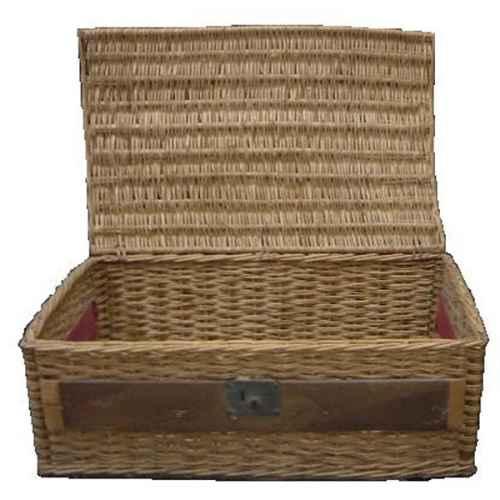 +BAS035 Crate Basket Weaved