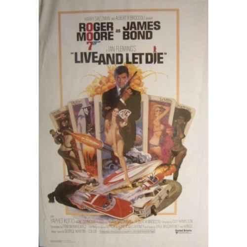 +BON325 Bond Live & Let Die Poster