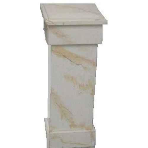 +PIL234 Ballustrade Pillar Marbled Gold-White