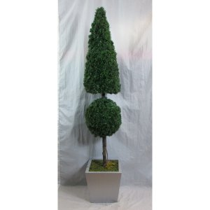 PLA010D Ball & Cone Topiary Tree