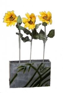PLA104S.3  Sunflowers in Planter