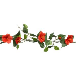 PLA068  Red Hibiscus Garland 1