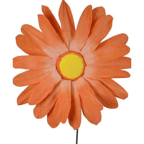 PLA108 Gerbera Parchment Flower Orange 95cm